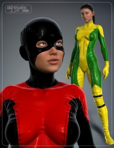 Super Hero Suit for Genesis 2 Female(s) and Victoria 6